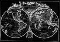Black and White World Map (1782)