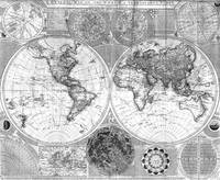 Black and White World Map (1787)