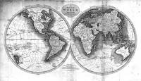 Black and White World Map (1795) 2