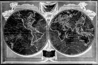 Black and White World Map (1808) Inverse