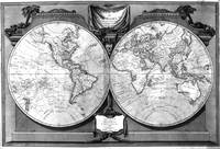 Black and White World Map (1808)