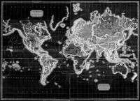 Black and White World Map (1812) Inverse