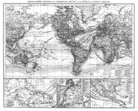 Black and White World Map (1895)