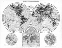 Black and White World Map (1895) 2