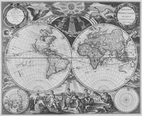 Black and White World Map (1668)