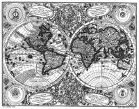 Black and White World Map (1744)