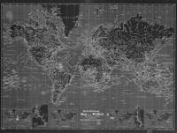Black and White World Map (1918) Inverse