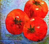 Three Red Tomatoes