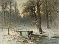 A January Evening in the Woods of The Hague, Louis