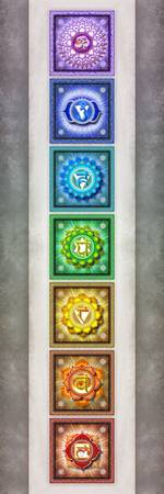 The Seven Chakras Artwork 2.2 Series 1