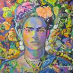 """Purple Frida with the orange flower"" by RDRiccoboni"