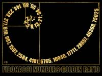 Fibonacci Numbers,  Golden Ratio, Typographic