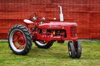Vintage Farmall Tractor with Barnwood