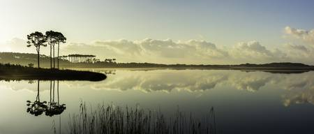 Western Lake Sunrise Panorama