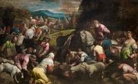 BASSANO, JACOPO  1510 -  1592 The Israelites drink