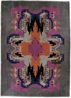 Carpet with a colored art deco-pattern within a so
