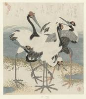 Cranes to the water, Kubota Shunman, c. 1816