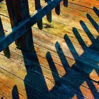 Bright Boardwalk Shadows and Glitter by Karen Adams