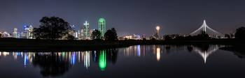 Dallas Skyline Reflection Pano