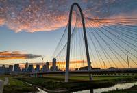 Dallas Sunrise Color Over the Hunt Hill Bridge