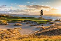 Chambers Bay Golf Course, Hole #15, Sunset