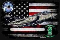 VMFA-121 GREEN KNIGHT F-35 HORIZONTAL BLACK HR