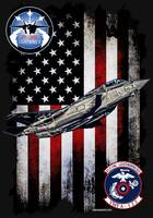 VMFA-122 FLYING LEATHERNECKS F-35 VERTICAL BLACK H