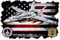 VMFA-314 BLACK KNIGHTS FA-18 HORIZONTAL WHITE HR