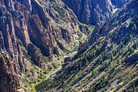 Black Canyon of the Gunnison the River and Cliffs