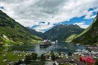 Geiranger at the end of the Sunnylvsfjorden Norway