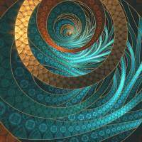 Beautiful Leather & Blue Turquoise Fractal Jewelry Art Prints & Posters by Jaya Prime