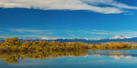 BIg Sky Rocky Mountain Autumn Panorama