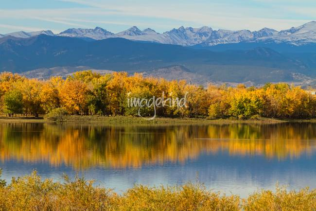 Golden Rocky Mountain Front Range View