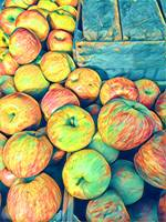 Cezanne On The Hudson - Farmers Market Apples