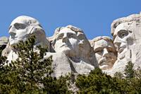 Mount Rushmore Presidents from Lower Platform.