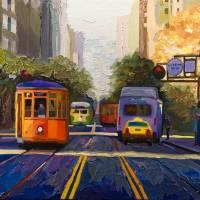 Market Street Orange Art Prints & Posters by Russ Wagner