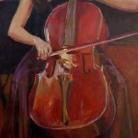 Cellist Art Prints & Posters by Kathleen Lack