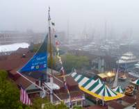THE NEWPORT INT'L BOAT SHOW IN FOG