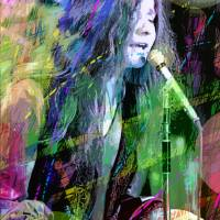 JANIS JOPLIN BLUE Art Prints & Posters by David Lloyd Glover