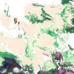 """Abstract Green and Pink Garden Panorama"" by RDRiccoboni"