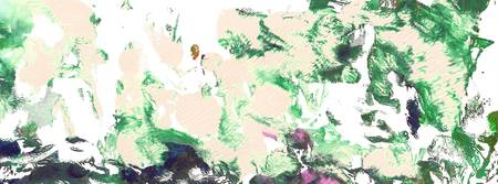 Abstract Green and Pink Garden Panorama