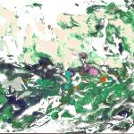 """Abstract Green and pink gardens"" by RDRiccoboni"