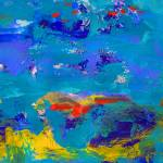 """Blue Carnival by the Sea Abstract Painting"" by RDRiccoboni"