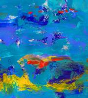 Blue Carnival by the Sea Abstract Painting