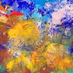 """Abstract Blue Yellow Orange and Red"" by RDRiccoboni"