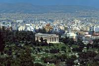 Athens with the Hephaisteion, Spring 2003 by Priscilla Turner