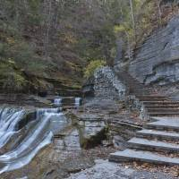 Devil's Kitchen Waterfall and Stone Steps Art Prints & Posters by Michael Stephen Wills