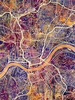 Cincinnati Ohio City Map