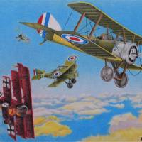 Aerial Dogfight Art Prints & Posters by Sharon Patterson