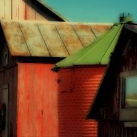 Four Farm Buildings by Karen Adams